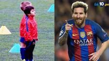 Así fue el primer día de entrenamiento de Thiago Messi en el Barcelona
