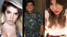 Maradona explotó contra sus hijas Dalma y Gianinna por no asistir a su cumpleaños