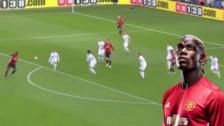 Paul Pogba anotó un increíble golazo de volea para Manchester United