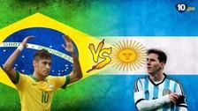 Los goleadores históricos del Brasil vs. Argentina