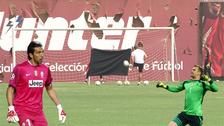 Pedro Gallese hizo un entrenamiento especial con la Selección Peruana