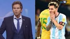 La reacción del 'Pollo' Vignolo tras la caída de Argentina 3-0 ante Brasil