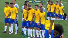 La extraña estrategia de Brasil para detener los tiros libres de Messi