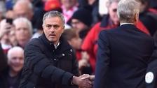 Mourinho y Wenger tuvieron un frío saludo y ni se miraron previo a su duelo