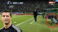 Jugador de Sporting de Lisboa sufrió aparatosa caída ante Real Madrid
