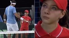 Del Potro tuvo un tierno gesto con recogebolas en la final de la Copa Davis