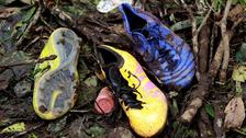 Los objetos que quedaron en el lugar de la tragedia del Chapecoense