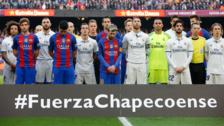 Barcelona y Real Madrid le rindieron un conmovedor homenaje al Chapecoense