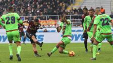 Gianluca Lapadula anotó un gol y le dio el triunfo al Milan