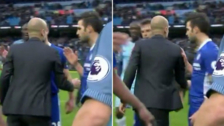 Pep Guardiola le negó el saludo a Cesc Fábregas