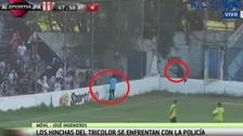 Un jugador argentino recibió un balazo de goma en la cabeza