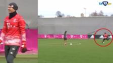 Manuel Neuer le anotó un golazo a Thomas Müller