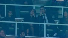 Cristiano Ronaldo se luce con su novia en el palco vip del Real Madrid