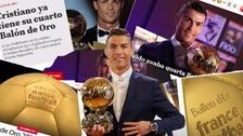 Así reaccionó la prensa mundial por el cuarto Balón de Oro de Cristiano Ronaldo