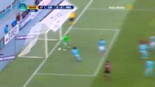 Hernán Hinostroza y el disparo que pudo ser el primer gol de Melgar en la final