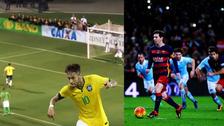 Neymar pateó penal indirecto al estilo Lionel Messi y Luis Suárez