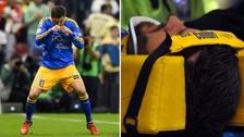 Las dos caras de Gignac: marcó un golazo, pero salió en camilla inconsciente