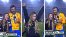 Esposa de jugador de Tigres se volvió 'loca' tras campeonar la Liga MX