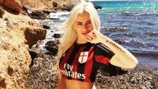 La modelo eslovaca que se considera la hincha número uno del Milan
