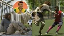 Falcao se disfrazó de indigente y asombró en partido de fútbol