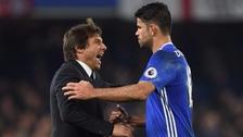 Diego Costa y Antonio Conte discutieron airadamente en práctica del Chelsea