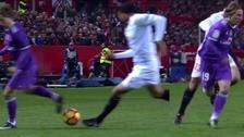 Luka Modric regaló una jugada de fantasía en el Sánchez Pizjuán