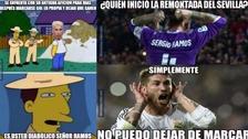 Sergio Ramos es víctima de memes tras anotar un autogol contra Sevilla