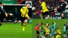 La terrible patada que casi lesiona a Marco Reus