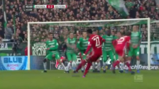 David Alaba anotó un golazo de tiro libre perfecto