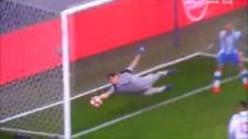 Casillas y su espectacular atajada tras potente cabezazo de Coates