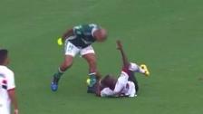 La furiosa reacción de Felipe Melo con jugador que intentó driblearlo
