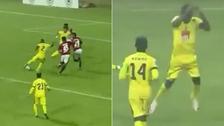 Anotó gol al estilo Lionel Messi y festejó como Cristiano Ronaldo