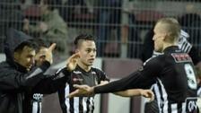 Cristian Benavente anotó el gol del triunfo para el Sporting Charleroi