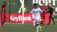 Yordy Reyna anotó su primer gol en el Vancouver Whitecaps
