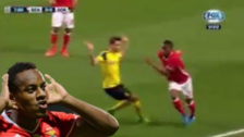 André Carrillo hizo jugada de lujo ante ante el Dortmund en Champions