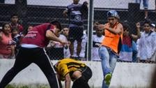 En la Copa Argentina: violento enfrentamiento entre hinchas y jugadores
