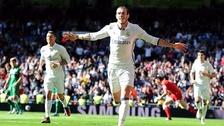 Gareth Bale anotó un golazo tras superar en velocidad a todos sus rivales