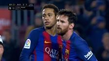 Lionel Messi anotó un doblete y le dio triunfo al Barcelona