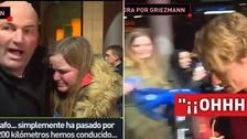 Griezmann dejó llorando a niña que recorrió 200 kilómetros para conocerlo