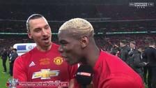 Ibrahimovic troleó a Pogba en plena celebración de la Copa de la Liga