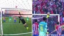 La espectacular atajada de Oblak tras un tiro libre de Lionel Messi