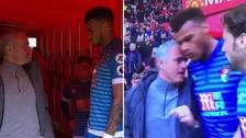 Mourinho encaró a un jugador rival por pisarle la cabeza a Ibrahimovic