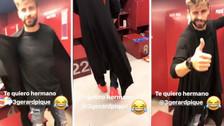 Neymar trolleó a Piqué por su extraña manera de vestir