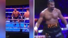 Boxeador se rompió el tendón de Aquiles, continuó peleando y se burló de su rival