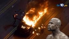 Novios celosos queman camioneta de Floyd Mayweather