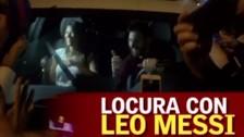 Antonella Roccuzzo grabó la caótica salida de Messi del Camp Nou
