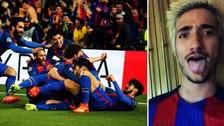 Hijo de José Mourinho celebró como loco histórica remontada del Barcelona