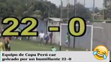 Equipo de Copa Perú recibió una goleada histórica y perdió 22-0