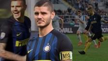 Mauro Icardi anotó un hat trick perfecto en solo 9 minutos