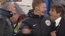 Cara a cara: el enfrentamiento entre José Mourinho y Antonio Conte